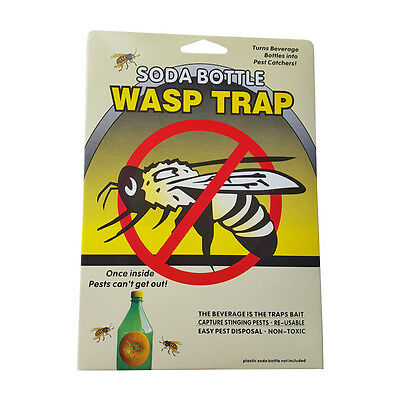 Soda Plastic Bottle Wasp Trap Side Mount Reusable Insect Catcher Easy Best