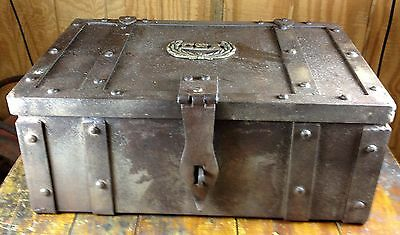 Large Antique Reproduction CSA Confederate States of America Iron Strong Box