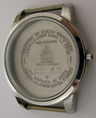 Omega Watch Case 2765 3SC 2764 diameter 36.1 mm in stainless steel for parts