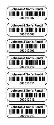 """1000 1.5"""" x .5"""" Polyester asset Labels, stickers UPC Barcode ID Tags Labels"""