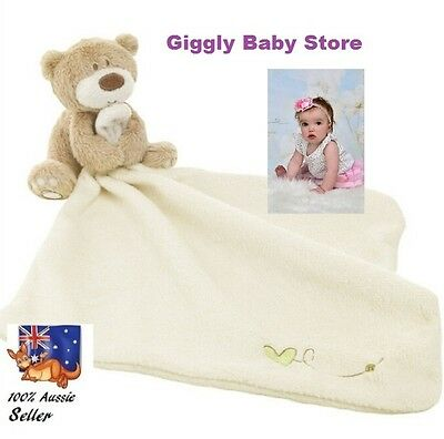 Newborn Baby Security Comforter Soft Cuddly Bear Blanket + Free Gift