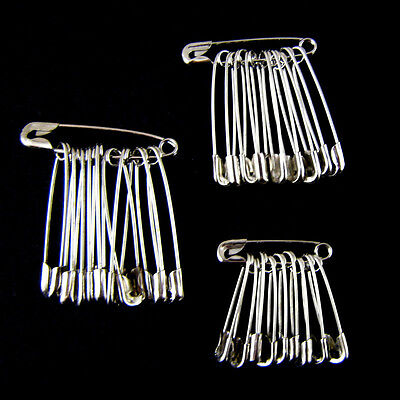30/50/100/120Pcs Silver Assorted Safety Pins Sewing Wedding Making DIY Crafts