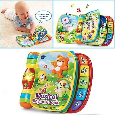 Toddler Learning Book Musical Rhyme Kid Interactive Development Bright Baby Toy