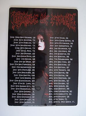 Cradle of Filth Damnation Every Day Tour Date Metal Sign Plaque Wall Art Dani