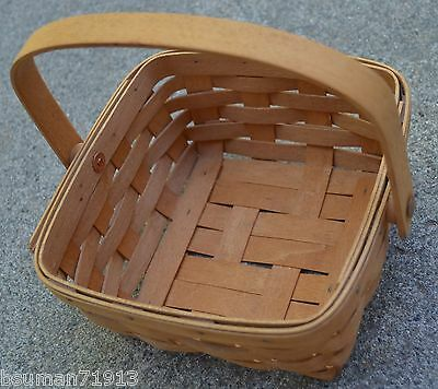 Longaberger Baskets MED Berry 1993 & Small Harvest ? 1990's signed USA made