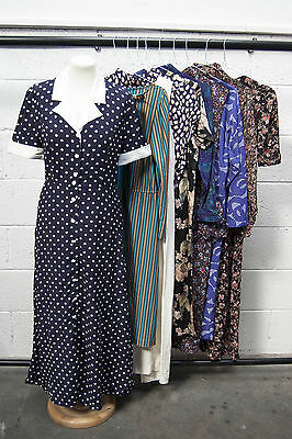 Job Lot Of 10 Vintage Dresses. Mix Of Colours, Sizes And Styles. #48