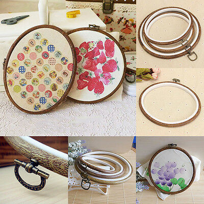12-25cm Plastic Cross Stitch Machine Embroidery Hoop Ring Frame DIY Sewing Craft