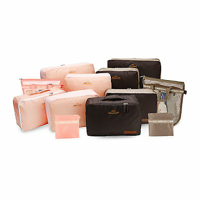 Bags in Bag BWPGE12 Wide 12 Travel Pouch Waterproof Pocket Wide Mini Bags 4Color