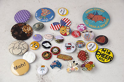 big mixed lot of badges and buttons