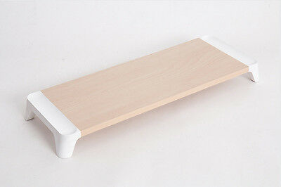 Natural Woody Monitor Stand Non-Slip TPE Footer Monitor Shelf