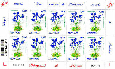 Feuille Entiere Timbres Monaco - N° 2780.