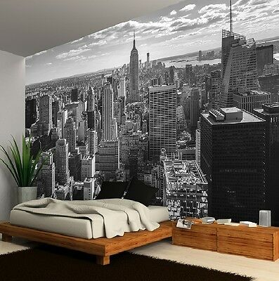Wall Mural Wallpaper 315x232cm New York Skyline Black And White Home
