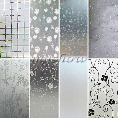 Frosted Glass Window Door Flower Sticker Film Self Adhesive Home Decoration DIY