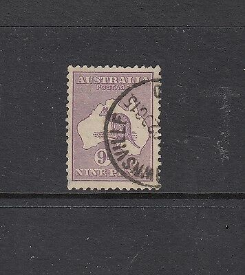 SECOND WATERMARK: 9d Violet SG 27, neat 1915 Townsville CDS