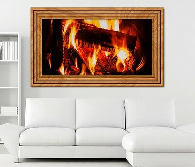 3d wandtattoo lagerfeuer feuer kamin sticker wohnzimmer wand aufkleber 11h1592 eur 18 99. Black Bedroom Furniture Sets. Home Design Ideas