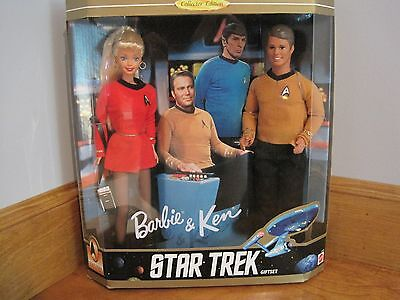 1996 Barbie And Ken Star Trek 30Th Anniversary Collector Edition Gift Set
