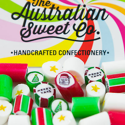 Gourmet Christmas Rock Candy Boiled Bulk Lollies Australian Made Party