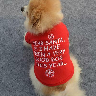Pet Dog Sweater Christmas Clothes Puppy Cats Warm Sweatshirt Coat  Costumes