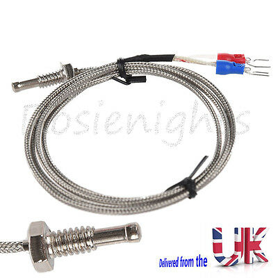 1M EGT K Type Thermocouple Control Temperature 0-800 Thread Exhaust Sensor Probe