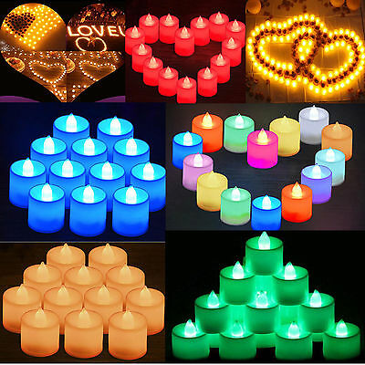 12 X Colour Changing LED Tea Lights Candles Battery Operated Party Decor Candles