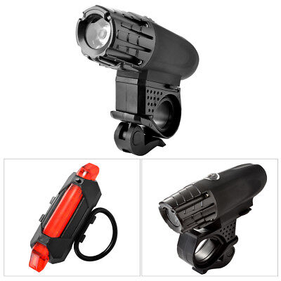 Cycling Bicycle Bike LED Head Front Rear Tail Light Rechargeable 4 Modes CS460