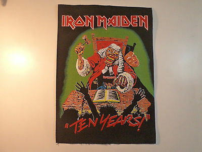 Vintage  IRON MAIDEN  80s 90s Unused BACK PATCH heavy metal dio ozzy lp t shirt