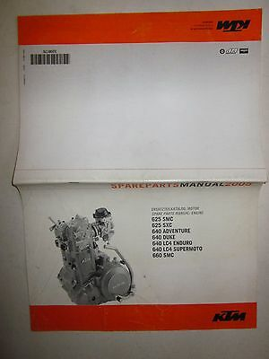 KTM 2005 625-640-660 SMC-SXC-ADVENTURE-LC4 Ersatzteilkatalog Spare parts manual