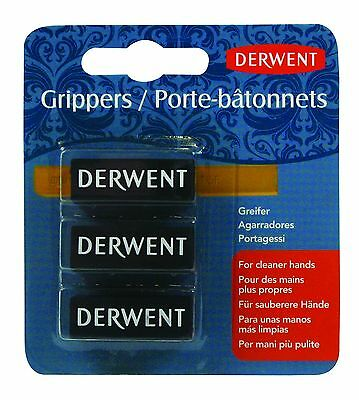 Derwent Grippers Pack of 3 for Inktense Blocks, Pastels, Graphite or Charcoal