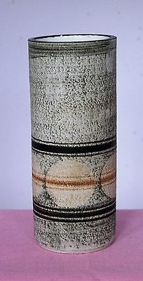 Troika Pottery  -  CYLINDER  VASE -   Decorated by RL.  -   Special Delivery