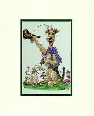 Mini Print Airdale Terrier by Mike McCartney