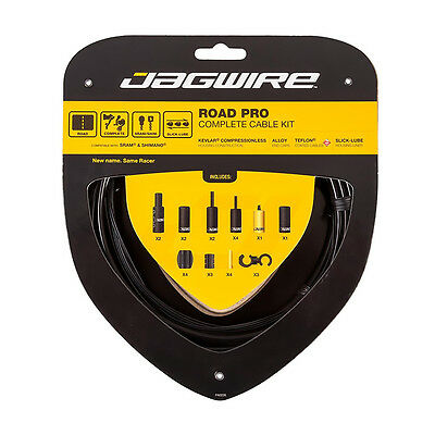 Jagwire Road Pro Racer Brake & Gear Cable Set Shimano SRAM Black