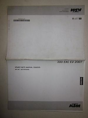 KTM 300 EXC 2007 Europe version Spare parts manual chassis