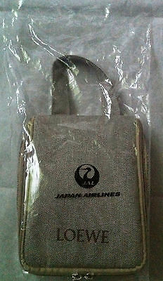 NEW JAL Japan Airlines First Class LOEWE Airline Amenity Kit Travel Bag Sealed