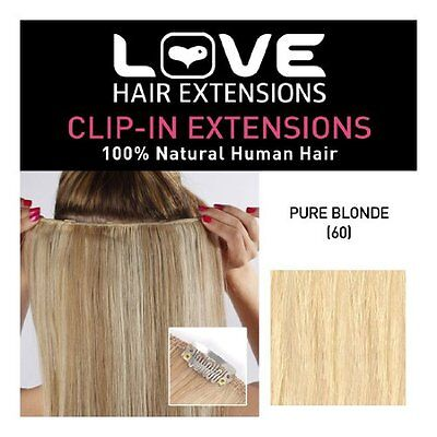 Love Hair Extensions-100% capelli umani CLIP IN Extensions