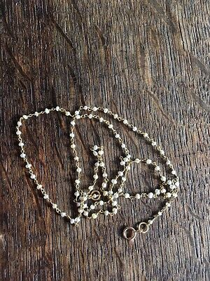 """VINTAGE NATURAL SEED PEARL AND 18ct  GOLD NECKLACE 18"""" INCH LONG."""