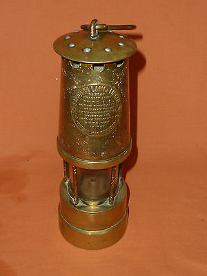 Vintage Brass A1 Protector Miner's Lamp