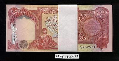 50,000 Iraqi Dinar 2 x 25,000 UNCIRCULATED AUTHENTIC Currency 2 x 25000 IQD