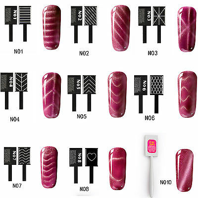 3D Cat Eye Magnet Stick For Magnet Soak off Nail Gel Polish 10 Styles Free P&P