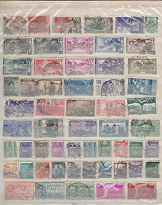 lot211 italy used stamps with good values