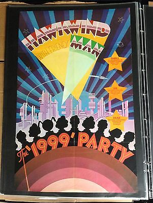 Hawkwind 1999 Party Poster By Barney bubbles