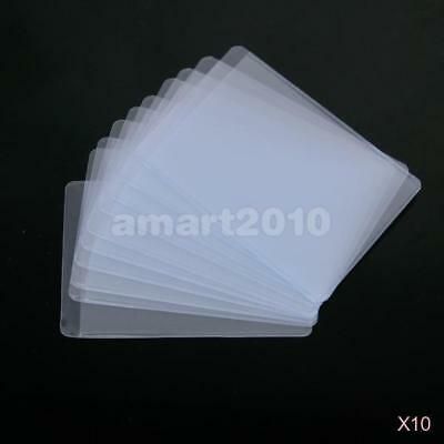 100x Plastic Clear Sleeves Pouch Protector Waterproof Cover for ID Credit Card