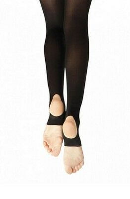 c2b11b3601f61 Capezio 145 Women's Size Large Black Hold and Stretch Stirrup Tights