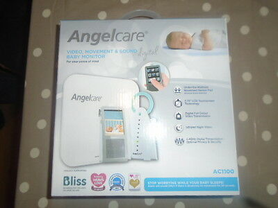 Angelcare AC1100 Digital Video,Movement & Sound Baby Monitor BRAND NEW UNOPENED