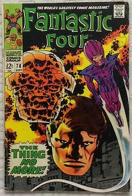 Fantastic Four #78 (1968 Marvel) 1st series VG condition.