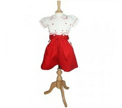 REDUCED Traditional Spanish Romany Smocked Girls 2-Piece Suit WAS £30 NOW £20