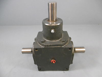 """1 Used Hub City 165 Gearbox Ratio 1:1 1750 RPM Right Angle 1"""" Shaft"""