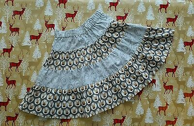 New Girls Cute Christmas Frilly Ruffle Skirt. Reindeer Rudolph Stars. Age 2-4.