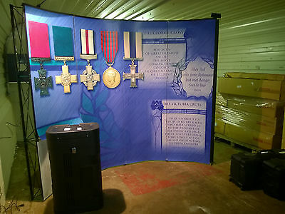 Premier Showroom Militaria Show Booth Exhibition Pop Up Stand Spotlight 10FT