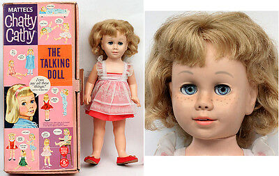 1959 Chatty Cathy Talking Doll with Box & Clothing