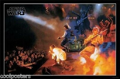 STAR WARS ROCKS LIVE ON STAGE LUKE LEAH VADER HAN POSTER NEW 22x34 FREE SHIPPING